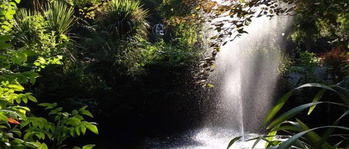 Derwent Gardens Fountain in Sunlight