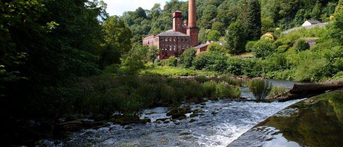 Masson Mills from the River Derwent